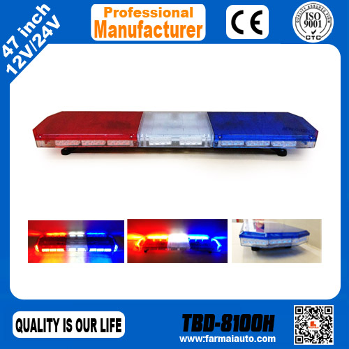Police Lights Prismatic High Power Led Light Bar 8100h